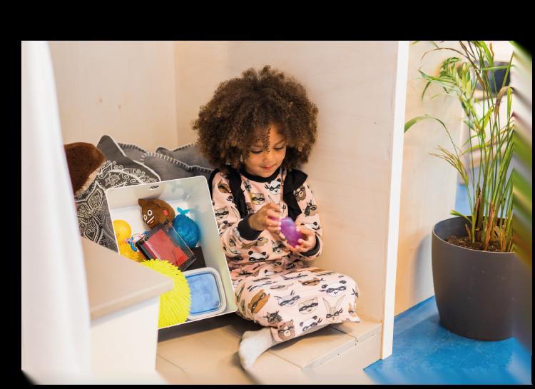 Friemelen in het Stiltehuisje brengt rust in het kind en in de klas